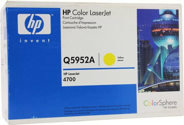 Картридж лазерный HP 643A/Q5952A, желтый, 1шт., 10000 страниц, оригинальный, для HP Color LaserJet 4700dtn / 4700 / 4700dn / 4700n / 4700ph+