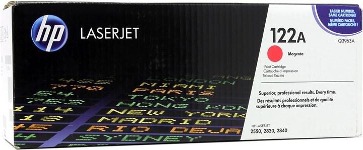 Картридж лазерный HP 122A/Q3963A, пурпурный, 1шт., 4000 страниц, оригинальный, для HP Color LaserJet 2550L / 2550ln / 2550n / 2820 / 2840 / 3000 / 3000dn / 3000dtn / 3000n