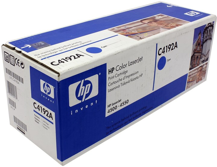 Картридж лазерный HP C4192A, голубой, 1шт., 6000 страниц, оригинальный, для HP Color LaserJet 4500 / 4550