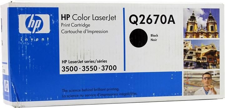 Картридж лазерный HP 308A/Q2670A, черный, 1шт., 6000 страниц, оригинальный, для HP Color LaserJet 3550n / 3500 / 3700
