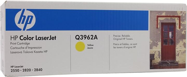Картридж лазерный HP 122A/Q3962A, желтый, 1шт., 4000 страниц, оригинальный, для HP Color LaserJet 2550L / 2550ln / 2550n / 2820 / 2840 / 3000 / 3000dn / 3000dtn / 3000n