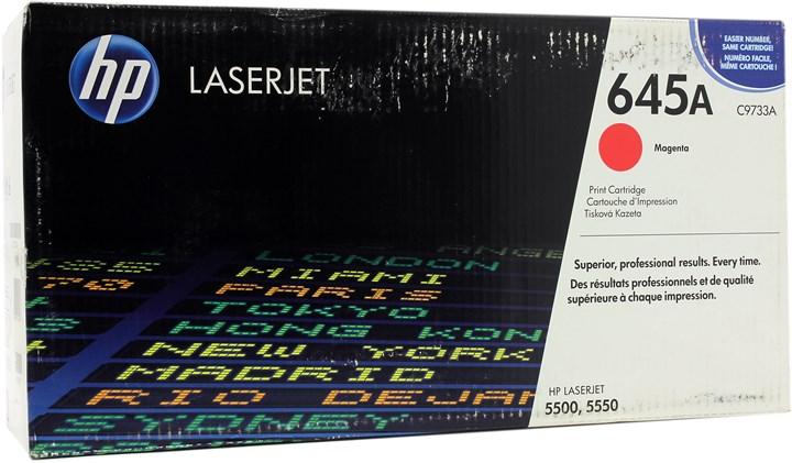 Картридж лазерный HP 645A/C9733A, пурпурный, 1шт., 12000 страниц, оригинальный, для HP Color LaserJet 5550hdn / 5550 / 5550dn / 5550dtn / 5550n / 5500 / 5500dn / 5500dtn / 5500hdn / 5500n