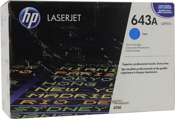 Картридж лазерный HP 643A/Q5951A, голубой, 1шт., 10000 страниц, оригинальный, для HP Color LaserJet 4700dtn / 4700 / 4700dn / 4700n / 4700ph+