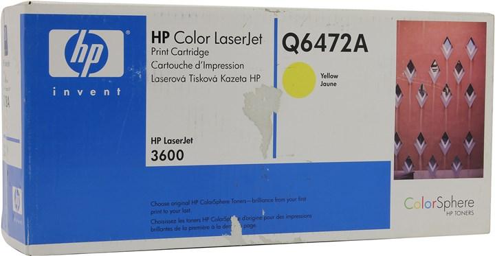 Картридж лазерный HP 502A/Q6472A, желтый, 1шт., 4000 страниц, оригинальный, для HP Color LaserJet 3600 / 3600n / 3600dn
