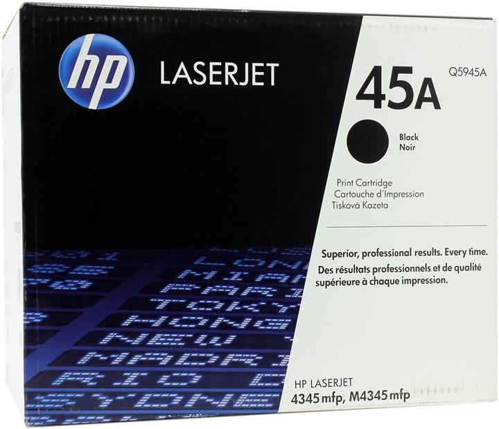 Картридж лазерный HP 45A/Q5945A, черный, 1шт., 18000 страниц, оригинальный, для HP LaserJet M4345xs / M4345 / M4345x / M4345xm