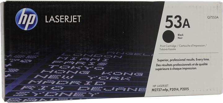 Картридж лазерный HP 53A/Q7553A, черный, 1шт., 3000 страниц, оригинальный, для HP LaserJet M2727nf / M2727nfs / P2014 / P2015 / P2015dn / P2015n / P2015x