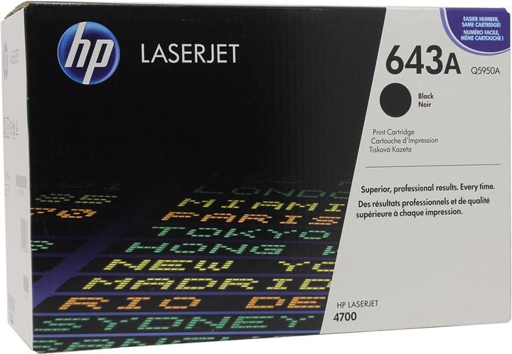 Картридж лазерный HP 643A/Q5950A, черный, 1шт., 11000 страниц, оригинальный, для HP Color LaserJet 4700dtn / 4700 / 4700dn / 4700n / 4700ph+