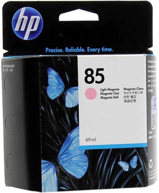 Картридж струйный HP 85 (C9429A), светло-пурпурный, оригинальный, объем 69мл, для HP Designjet 130 / 90 / 30