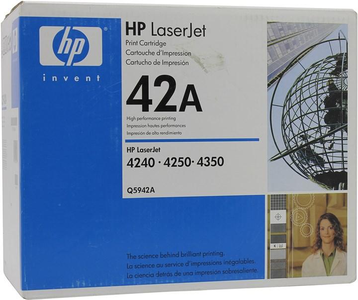 Картридж лазерный HP 42A/Q5942A, черный, 1шт., 10000 страниц, оригинальный, для HP LaserJet 4250dtnsl / 4250 / 4250dtn / 4250n / 4250tn / 4350 / 4350dtn / 4350dtnsl / 4350n / 4350tn