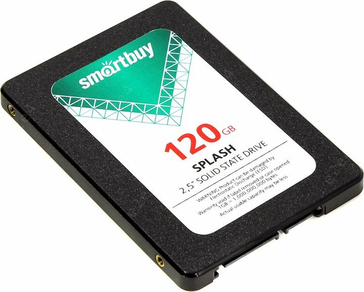 """Твердотельный накопитель (SSD) SmartBuy 120Gb Splash, 2.5"""", SATA3 (SB120GB-SPLH-25SAT3)"""