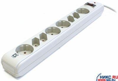Сетевой фильтр Defender DFS-301, 8-розеток, 1.8m, белый (99454)