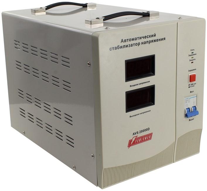 Стабилизатор напряжения Powerman AVS 20000D, 20000VA, Клеммная колодка, белый