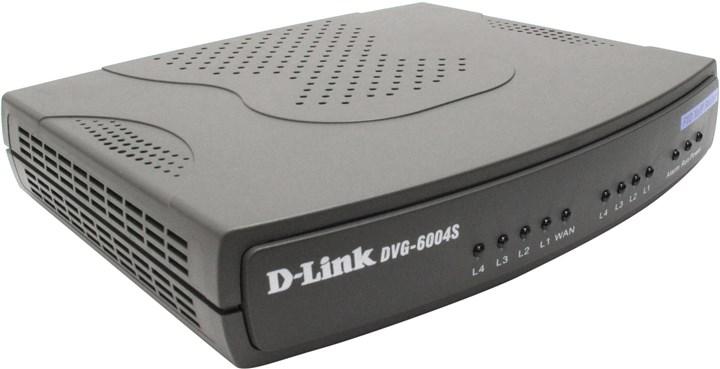 Шлюз D-Link DVG-6004S SIP VoIP 4xFXO, 4xLAN 10/100, 1xWAN 10/100, роутер