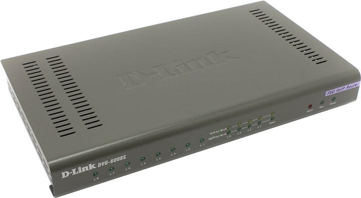 Шлюз D-Link DVG-6008S SIP VoIP 8xFXO, 4xLAN 10/100, 1xWAN 10/100, роутер