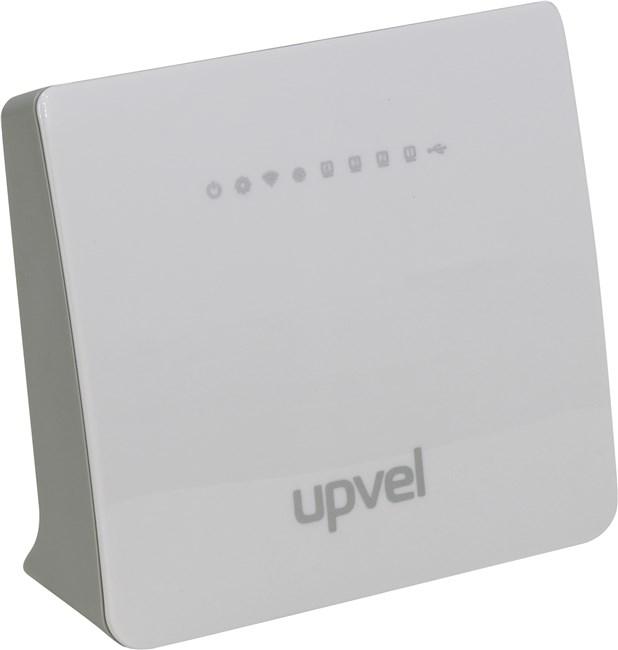 Wi-Fi роутер UPVEL UR-329BN, 802.11n, 2.4 ГГц, до 300 Мбит/с, LAN 4x100 Мбит/с, внешних антенн: 2x2dBi