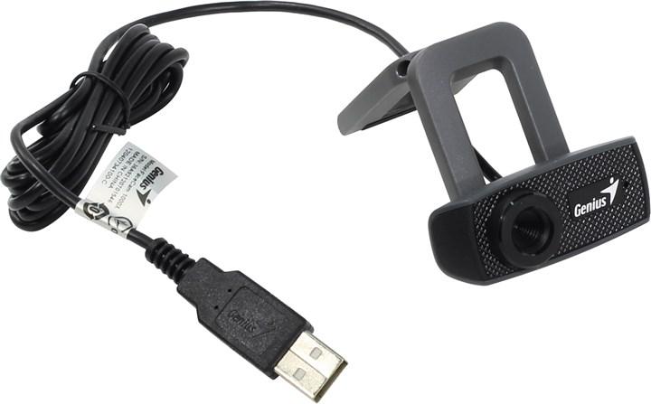 Вебкамера Genius FaceCam 1000X V2 1MP, 1280x720, микрофон, USB 2.0, черный