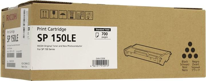 Картридж лазерный Ricoh SP 150LE/407971, черный, 700 страниц, оригинальный, для Ricoh SP150 / SP150SU