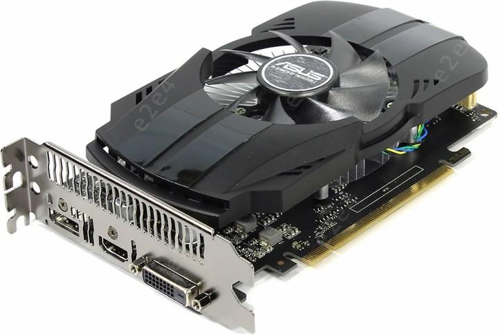 Видеокарта ASUS NVIDIA GeForce GTX 1050ti, 4Gb DDR5, 128bit, PCI-E, DVI, HDMI, DP, Retail (PH-GTX1050TI-4G)
