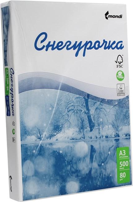 Бумага A3 80г/м² 500 листов, 91%, 106мкм, Снегурочка (MDSGA3)