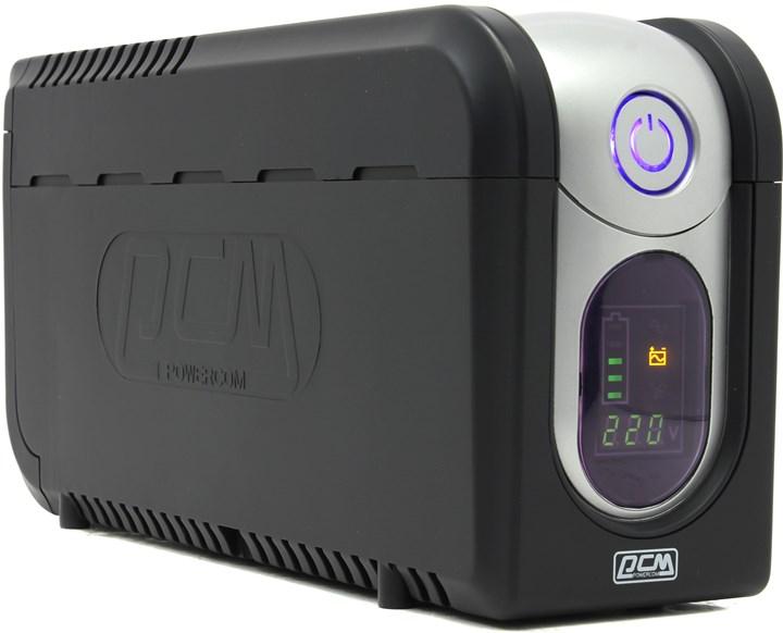 ИБП Powercom Imperial 625, 625VA, 375W, IEC, черный (IMD-625AP)