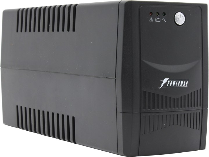 ИБП Powerman Back Pro 800Plus, 800VA, 480W, EURO, USB, черный