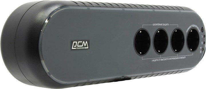 ИБП Powercom WOW UPS, 850VA, 425W, EURO, черный (WOW-850 U)