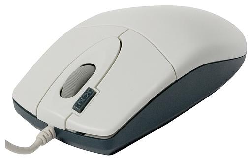 Мышь проводная A4Tech OP-620D, 800dpi, оптическая светодиодная, USB, белый
