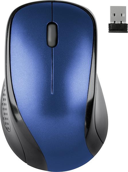 Мышь беспроводная Speedlink KAPPA, 1600dpi, оптическая светодиодная, Wireless, USB, синий (SL-6313-BE-01)