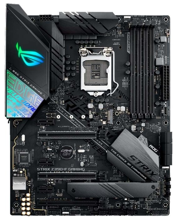 Материнская плата ASUS ROG STRIX Z390-F GAMING, Socket1151v2, Intel Z390, 4xDDR4, 3PCI-Ex16, 6SATA3, 7.1-ch, GLAN, 6USB 3.1, USB Type-C, HDMI, DisplayPort, ATX, Retail